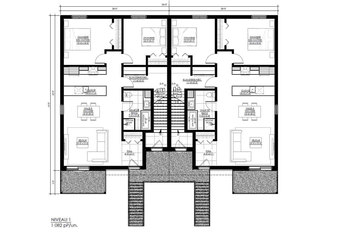 Construction-app-location-logement-sureau-60-Plan-Niveau-1