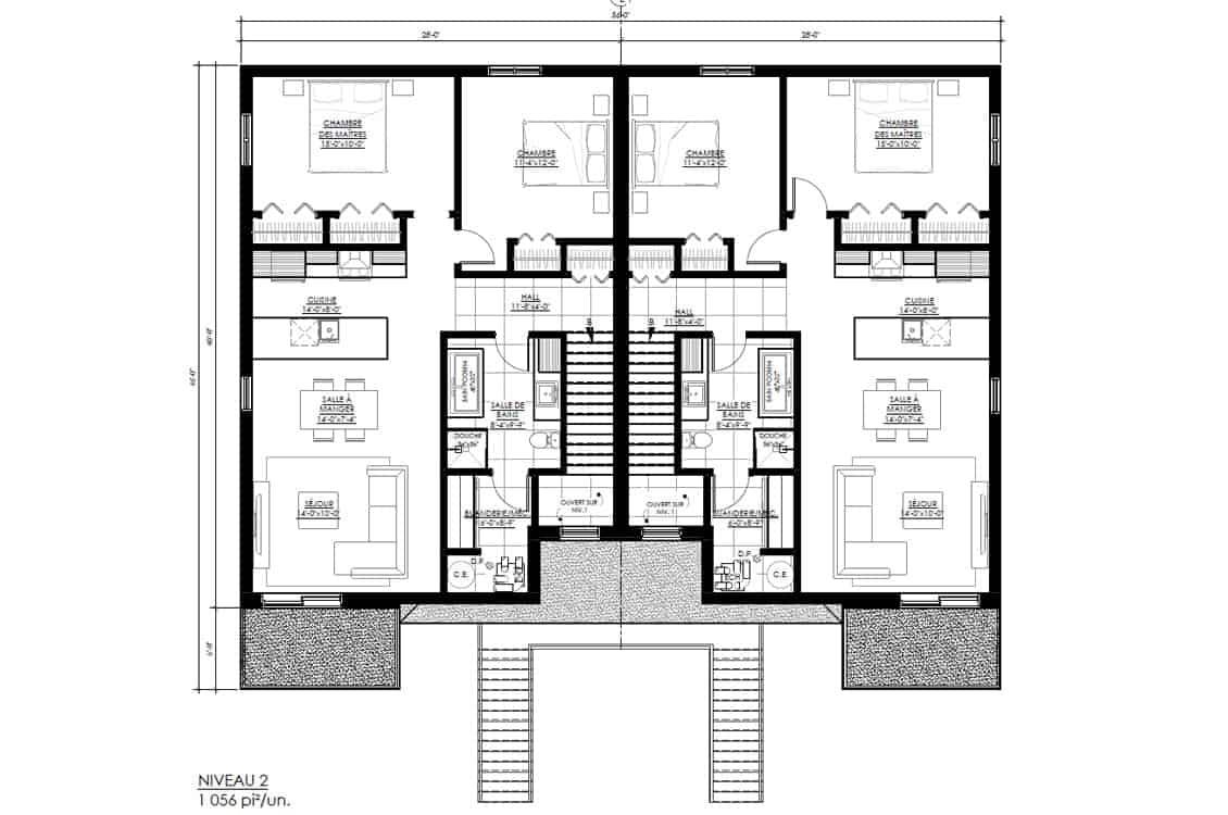 Construction-app-location-logement-sureau-60-Plan-Niveau-2